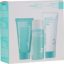 Parfumuri și produse cosmetice Set - Germaine de Capuccini Purexpert Natural Perfect 1-2-3 Oily (f/foam/30ml + fluid/50ml + f/cr/50ml)