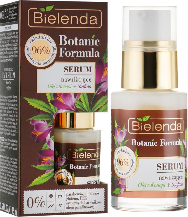 Ser hidratant pentru față - Bielenda Botanic Formula Hemp Oil + Saffron Moisturizing Serum — Imagine N1