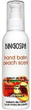 Parfumuri și produse cosmetice Balsam de mâini cu piersici - BingoSpa