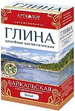 """Parfumuri și produse cosmetice Argilă cosmetică, albă """"Baikal"""", cu extract de ginseng - Artkolor"""