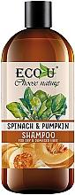 "Parfumuri și produse cosmetice Șampon ""Dovleac și spanac"" - Eco U Pumpkins And Spinach Shampoo"