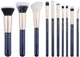 Parfumuri și produse cosmetice Set pensule pentru machiaj, T483, 10buc - Jessup
