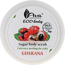 "Parfumuri și produse cosmetice Scrub pentru corp ""Guarana"" - Ava Laboratorium Eco Body Natural Sugar Scrub Guarana"