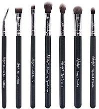 Parfumuri și produse cosmetice Set pensule pentru machiaj - Nanshy Eye Brush Set Onyx Black (Brush/7 buc.)