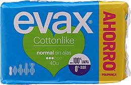 """Parfumuri și produse cosmetice Absorbante """"Normal"""", fără aripi, 40buc - Evax Cottonlike"""