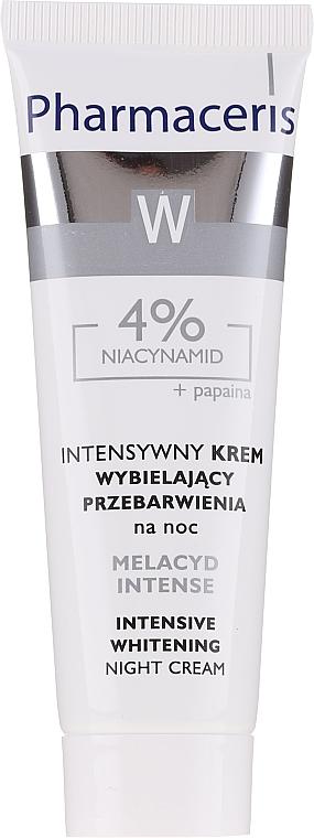 Cremă de albirea tenului - Pharmaceris Melacyd Intense Whitening Night Face Cream