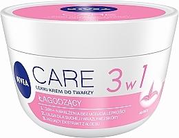 Parfumuri și produse cosmetice Cremă hidratantă pentru piele uscată - Nivea Care Light Soothing Cream