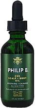 Parfumuri și produse cosmetice Ulei pentru scalp - Philip B CBD Scalp + Body Oil
