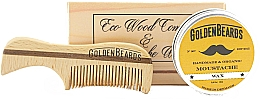 Parfumuri și produse cosmetice Set - Golden Beards Moustache Wax Kit + Comb (wax/15 ml + comb)