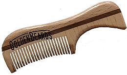 Parfumuri și produse cosmetice Pieptene pentru barbă din lemn ecologic, 9,5 cm - Golden Beards Eco Moustache Comb