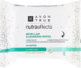 Parfumuri și produse cosmetice Șervețele cu apă micelară pentru curățare - Avon Nutra Effects Micellar Cleansing Wipes