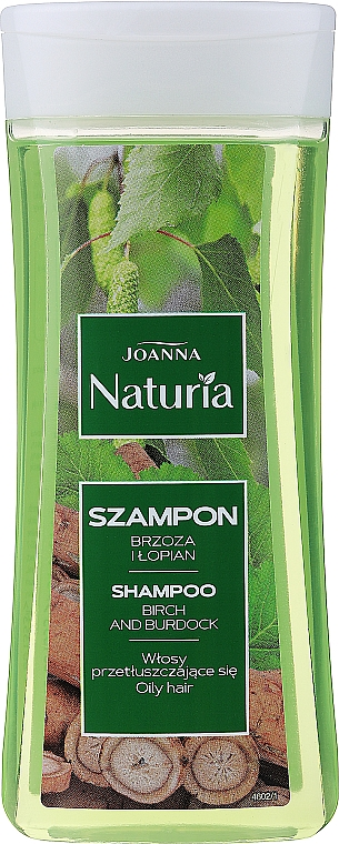 Șampon cu extract de mesteacăn și brusture - Joanna Naturia Hair Shampoo — Imagine N1