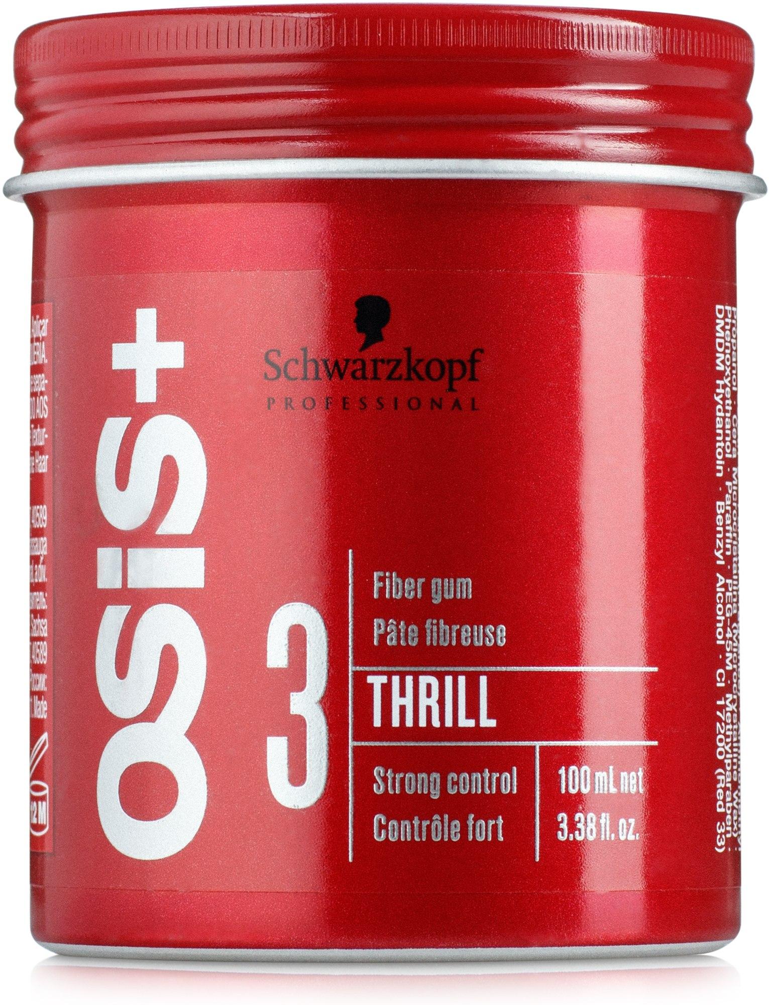 Gumă pentru aranjarea părului - Schwarzkopf Professional Osis+ Thrill Texture Fibre Gum — Imagine 100 ml