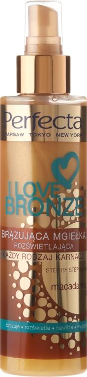 Spray bronzant cu ulei de macadamia - Perfecta I Love Bronze Spray Mist