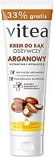 Parfumuri și produse cosmetice Cremă nutritivă cu ulei de aragan pentru mâini - Vitea Moisturizing Hand Cream Argan Oil