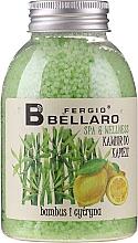 """Parfumuri și produse cosmetice Bile efervescente pentru baie """"Bambus și lămâie"""" - Fergio Bellaro Bamboo and Lemon Bath Caviar"""