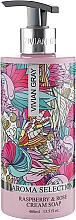 "Parfumuri și produse cosmetice Săpun-cremă lichid ""Zmeură și trandafir"" - Vivian Gray Aroma Selection Raspberry & Rose Cream Soap"
