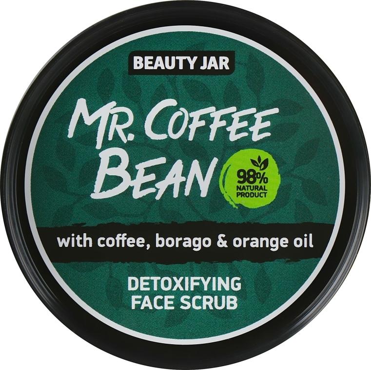 """Scrub pentru față """"Mr. Coffee Bean"""" - Beauty Jar Detoxifying Face Scrub"""