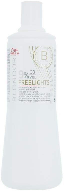 Loțiune activă 9% - Wella Professionals Blondor Freelights Oxydant 9% 30 vol  — Imagine N1