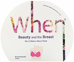 Parfumuri și produse cosmetice Mască de bioceluloză pentru fermitatea bustului - When Beauty And The Breast Bio-Cellulose Mask