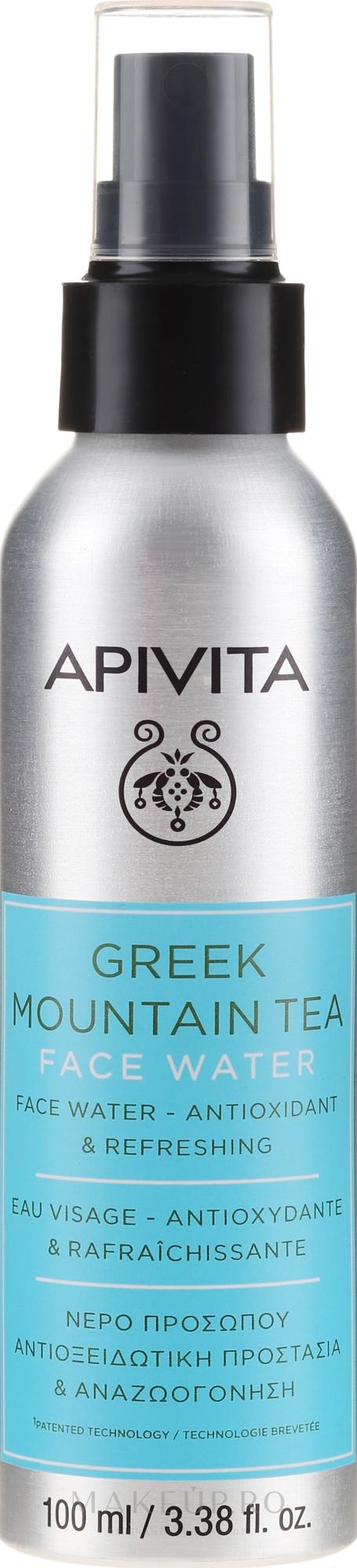 """Apă cu efect antioxidant și răcoritor pentru față """"Ceai de munte grecesc"""" - Apivita Greek Mountain Tea Face Water — Imagine 100 ml"""