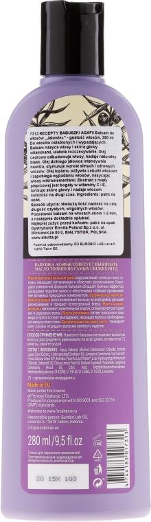 Balsam cu extract de ienupăr împotriva căderii părului - Reţete bunicii Agafia  — Imagine N2