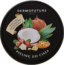 Parfumuri și produse cosmetice Scrub cu unt de shea și nucă de cocos pentru corp - DermoFuture Sugar Body Scrub