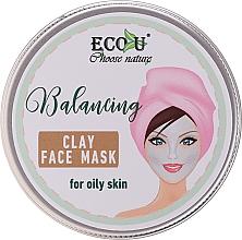 Parfumuri și produse cosmetice Mască pe bază de argilă pentru tenul gras - Eco U Balancing Clay Face Mask For Oily Skin