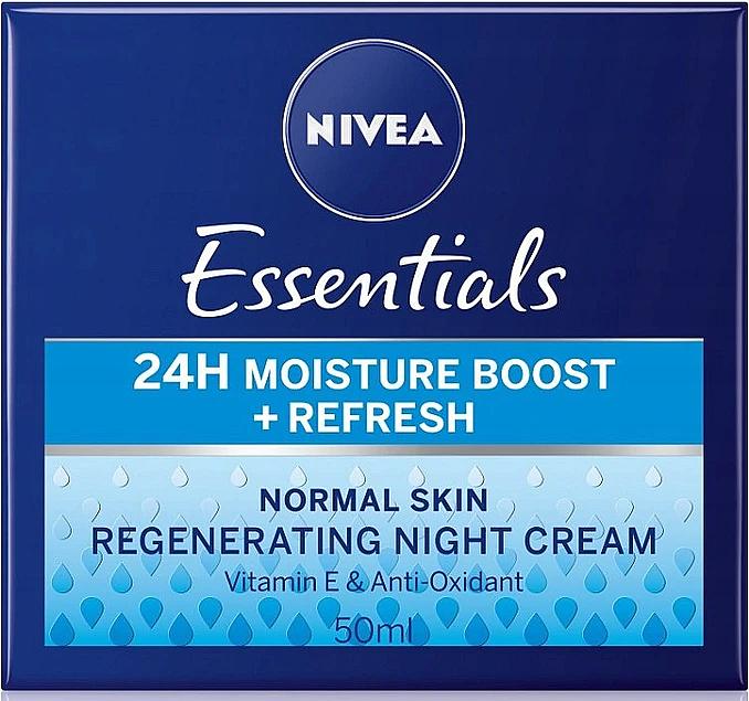 Cremă de noapte pentru ten normal - Nivea Essentials 24H Moisture Boost + Refresh Cream