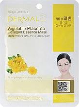 Parfumuri și produse cosmetice MKască cu colagen și aminoacizi - Dermal Vegetable Placenta Collagen Essence Mask