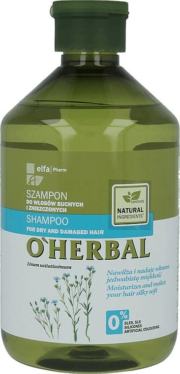 Șampon pentru păr uscat și fragil cu extract de in - O'Herbal