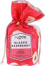 """Parfumuri și produse cosmetice Lumânare parfumată """"Zmeură glazurată"""" - I Love Glazed Raspberry Scented Candle"""
