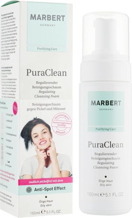 Spumă de curățare pentru față - Marbert Pura Clean Regulating Cleansing Foam — Imagine N1