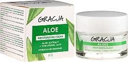 Parfumuri și produse cosmetice Cremă hidratantă antirid cu aloe și acid hialuronic - Gracja Aloe Moisturizing Face Cream