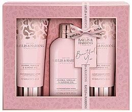 Parfumuri și produse cosmetice Set - Baylis & Harding Jojoba, Vanilla & Almond Oil (b/lot/200ml + b/wash/300ml + sh/cr/200ml)