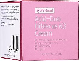 Parfumuri și produse cosmetice Cremă cu acizi și hibiscus pentru față - By Wishtrend Acid-Duo Hibiscus 63 Cream