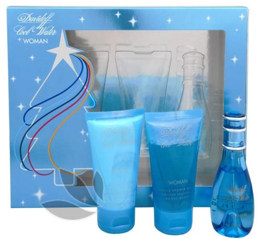 Davidoff Cool Water Woman - Set (edt/30ml + b/lot/50ml + sh/gel/50ml)  — Imagine N1