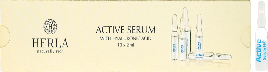 Ser facial cu acid hialuronic - Herla Hydraessence Active Serum With Hyaluronic Acid — Imagine N1