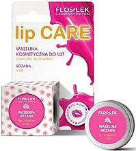 "Vaselina cosmetică pentru buze ""Trandafir"" - Floslek Lip Care Cosmetic Lip Vaseline Rose — Imagine N3"