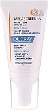 Parfumuri și produse cosmetice Cremă ușoară anti-pigmentare pentru ten normal și combinat - Ducray Melascreen UV Light Cream SPF 50+