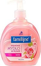 Parfumuri și produse cosmetice Săpun lichid - Pollena Savona Familijny Rose Creamy Liquid Soap
