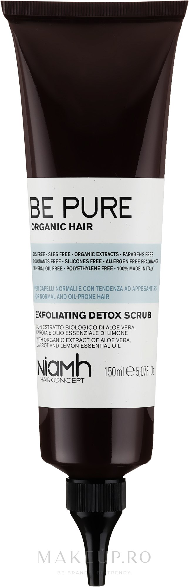Exfoliant pentru scalp - Niamh Hairconcept Be Pure Detox Scrub — Imagine 150 ml