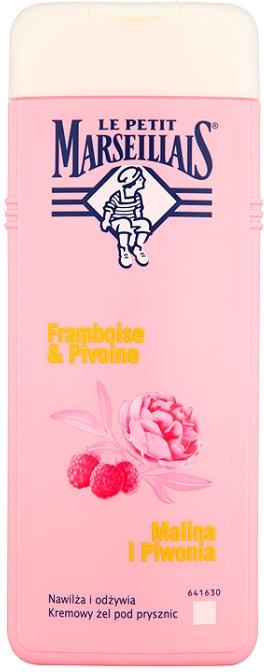 """Gel de duș """"Zmeură și Bujor"""" - Le Petit Marseillais"""