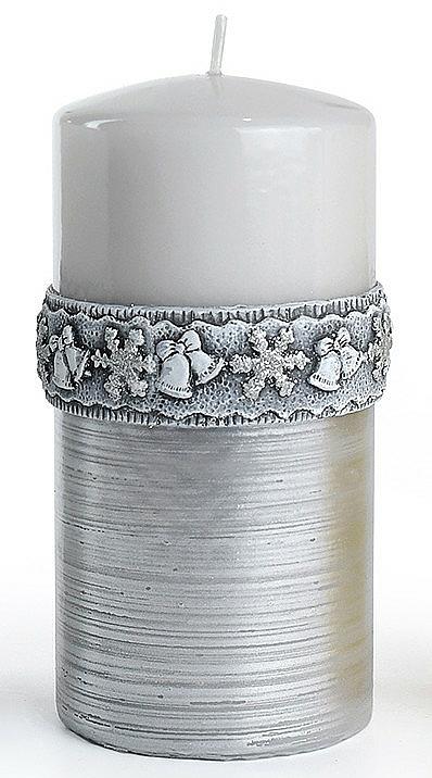 Lumânare decorativă, gri, 7x18 cm - Artman Christmas Time — Imagine N1