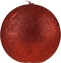 """Parfumuri și produse cosmetice Lumânare decorativă """"Glamorous ball"""" roșie, 10cm - Artman Glamour"""