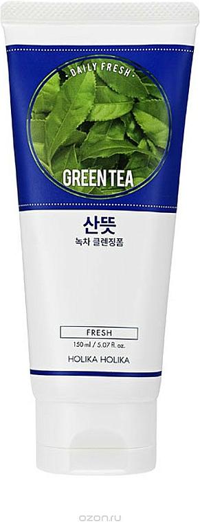 Spumă pentru curățarea feței cu extract de ceai verde - Holika Holika Daily Fresh Green Tea Cleansing Foam