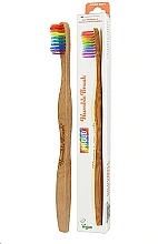 Parfumuri și produse cosmetice Periuță de dinți din bambus, curcubeu - The Humble Co. Proud Rainbow Soft Toothbrush