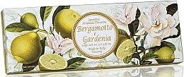 """Parfumuri și produse cosmetice Set săpunuri """"Bergamotă și Gardenia"""" - Saponificio Artigianale Fiorentino Bergamot & Gardenia (3 x 100g)"""