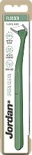 Parfumuri și produse cosmetice Ață dentară cu suport, verde - Jordan Green Clean Flosser