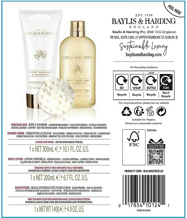 Set - Baylis & Harding Sweet Mandarin & Grapefruit (sh/cream/300ml + b/lot/200ml + b/fizzer/140g) — Imagine N3